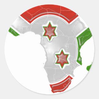 Burundi Pegatina Redonda