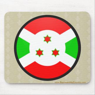 Burundi quality Flag Circle Mousepad