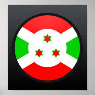 Burundi quality Flag Circle Poster