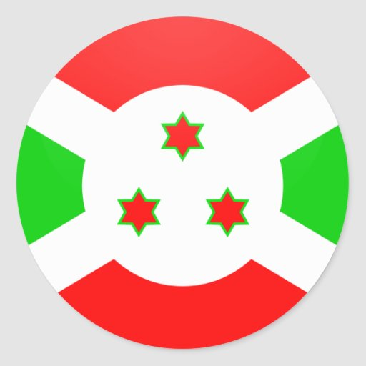 Burundi quality Flag Circle Stickers