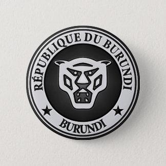 Burundi Round Emblem Pinback Button