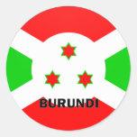 Burundi Roundel quality Flag Classic Round Sticker