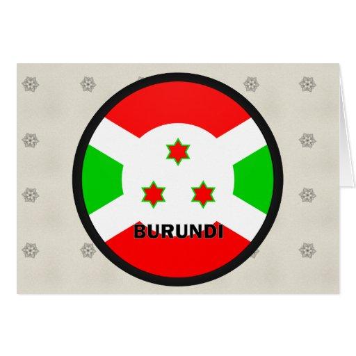 Burundi Roundel quality Flag Greeting Card
