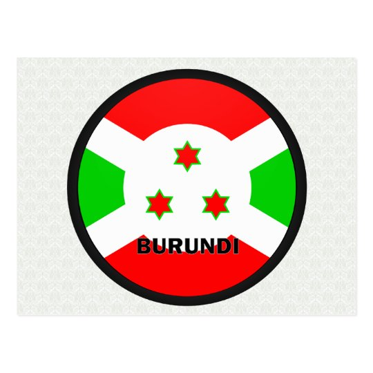 Burundi Roundel quality Flag Postcard