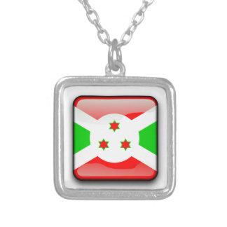 Burundi Square Pendant Necklace