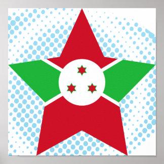Burundi Star Poster
