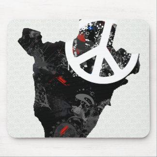 Burundi Trendy Peace Sign with Burundian map Mouse Pads