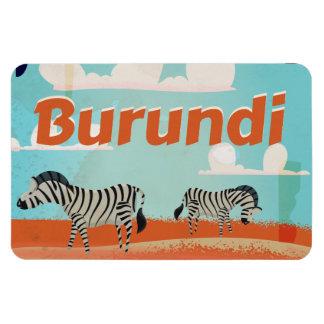 Burundi vintage travel poster magnet