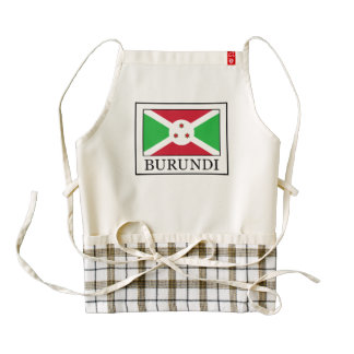 Burundi Zazzle HEART Apron