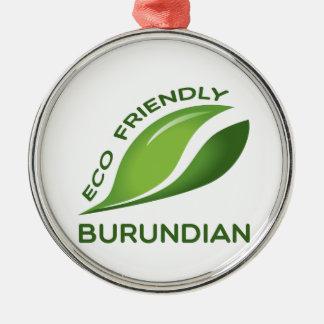 Burundian. amistoso de Eco Adorno Navideño Redondo De Metal