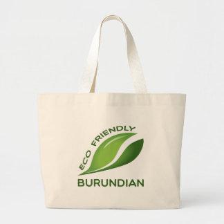 Burundian. amistoso de Eco Bolsa Tela Grande
