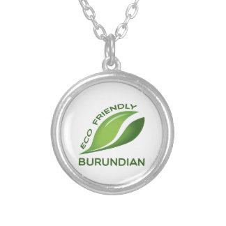 Burundian. amistoso de Eco Colgante Redondo
