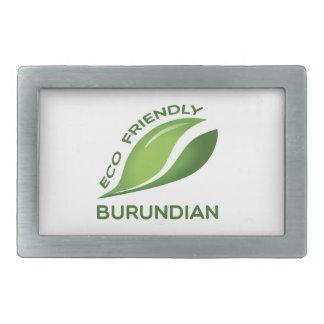 Burundian. amistoso de Eco Hebillas De Cinturón Rectangulares