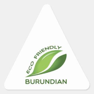 Burundian. amistoso de Eco Pegatina Triangular
