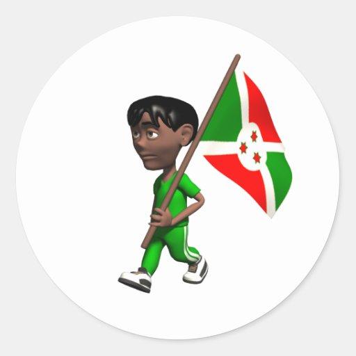 Burundian Boy Stickers