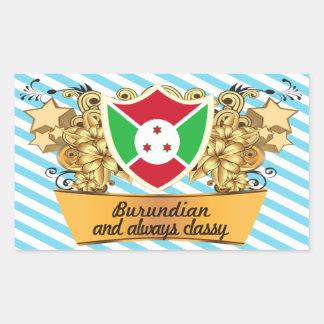 Burundian con clase etiqueta