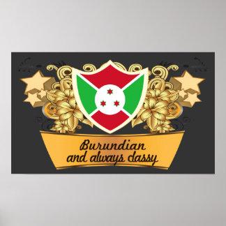 Burundian con clase impresiones