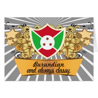 Burundian con clase tarjeta