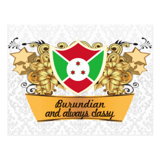 Burundian con clase tarjetas postales