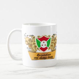 Burundian con clase taza de café