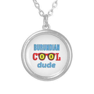 Burundian Cool Dude Round Pendant Necklace