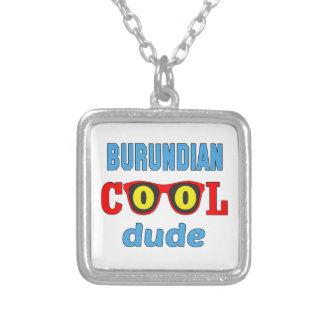 Burundian Cool Dude Square Pendant Necklace