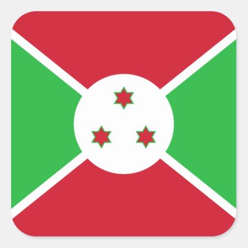 Burundian Flag Sticker