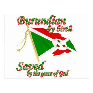 Burundian por el nacimiento ahorrado por la gracia tarjetas postales