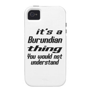 Burundian thing designs Case-Mate iPhone 4 covers