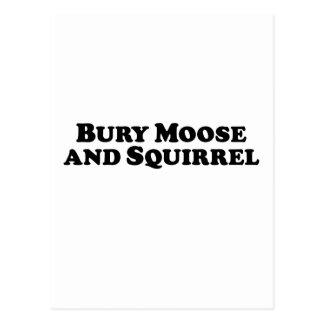 Bury Moose and Squirrel - Mixed Clothes Postcard