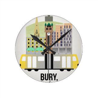 Bury Round Clock