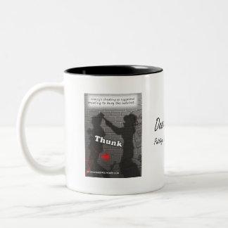 'Bury the Hatchet' Two-Tone Coffee Mug