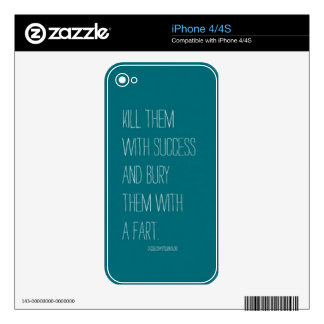 Bury Them With A Fart Decals For The iPhone 4S