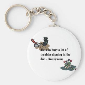 Bury Your Troubles Keychain