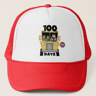 Bus 100 Days of School t-shirts and Gifts Trucker Hat