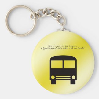 Bus Aide A Good Morning Smile Black Bus Keychain