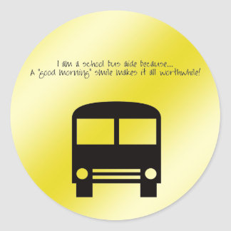 Bus Aide - A Good Morning Smile Sticker
