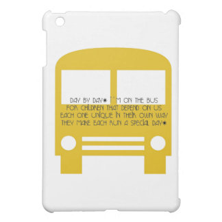 Bus Aide Day By Day Yellow Bus iPad Mini Cover