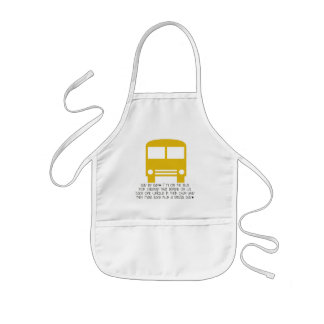 Bus Aide Day By Day Yellow Bus Kids' Apron