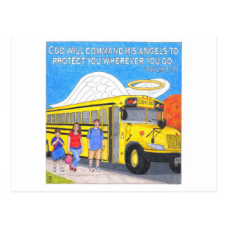 Bus Angel Inspirational Post Card