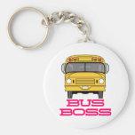 Bus Boss Basic Round Button Keychain