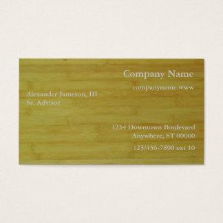 Bus. Card - Bamboo boards