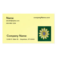 Bus. Card - Crochet pattern - Daisy Business Cards