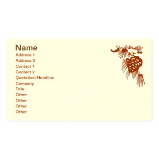 Bus Card - Pine Code with Snow Business Card Templates