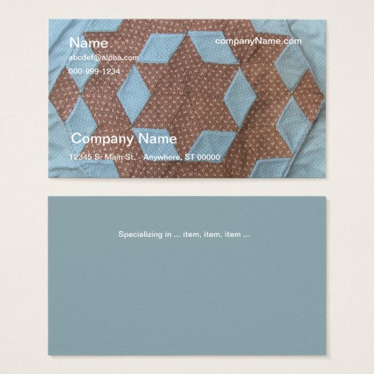Bus. Card - Quilt Pattern