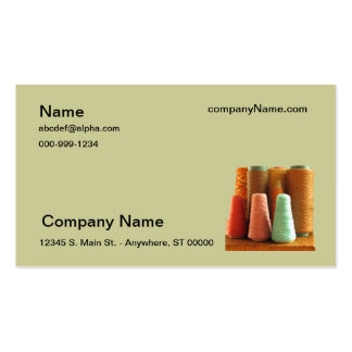 Bus. Card - Spools of yarn Double-Sided Standard Business Cards (Pack Of 100)