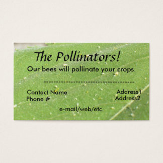 Bus. Card - The Pollinators