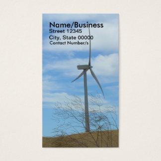 Bus. Card - Wind Turbine