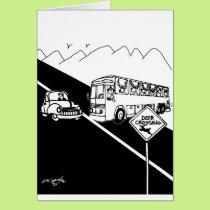 Bus Cartoon 3251 Card