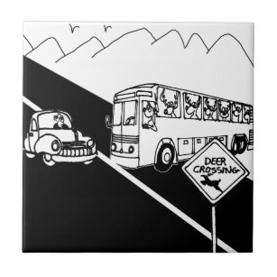 public transport decorative ceramic tiles zazzle School Bus Dimensions bus cartoon 3251 ceramic tile